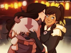 Korra and Asami, Awh.