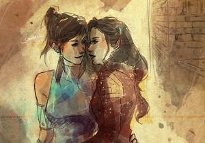 Korra and Asami.