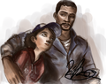Lee and Clem TWD - video-games photo