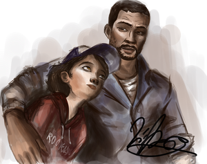 Lee and Clem TWD