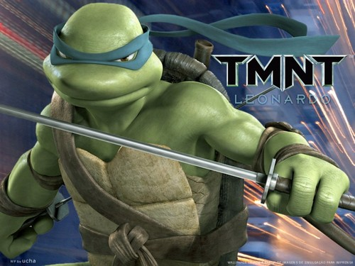 Childhood Animated Movie Heroes wallpaper called Leonardo (TMNT)