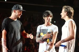 Liam, Zayn and Louis