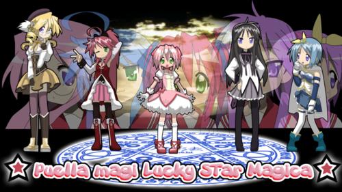 Mahou Shoujo Madoka Magica fondo de pantalla titled Lucky estrella Madoka Magica
