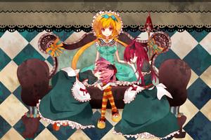 Madoka, Kyoko and Mami