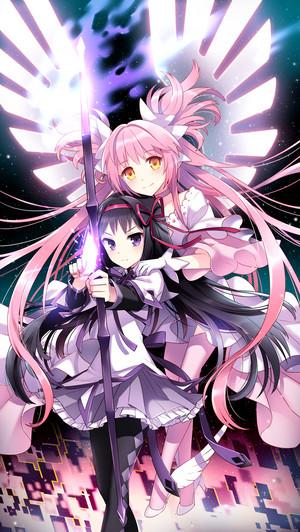 Madokami and Homura