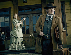"Maggie Palmer (Chelah Horsdal) and Thomas ""Doc"" Durant (Colm Meaney)"