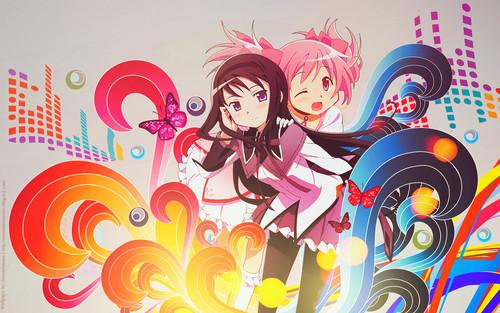 Mahou Shoujo Madoka Magica fondo de pantalla with anime entitled Mahou Shoujo Madoka Magica