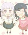 Maizono Sayaka and Kirigiri Kyouko   Danganronpa: Trigger Happy Havoc