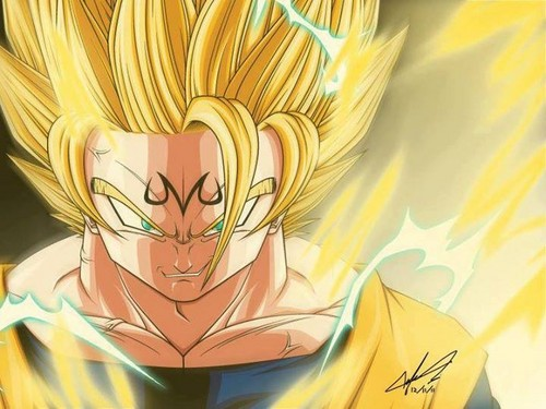 dragon ball z wallpaper titled Majin goku
