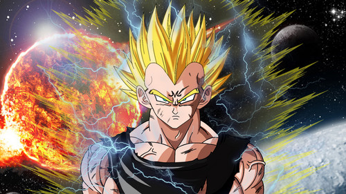 Dragon Ball Z achtergrond with anime titled Majin Vegeta