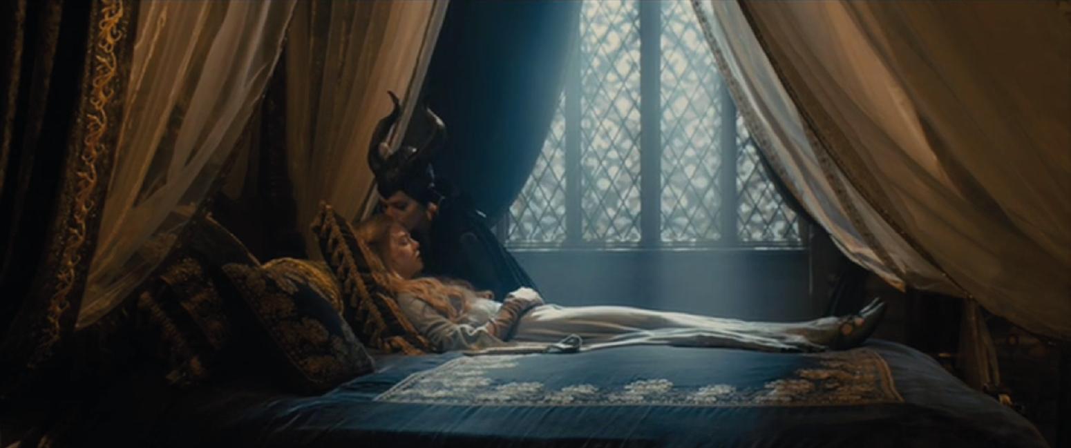 Maleficent Tries To Awaken Aurora