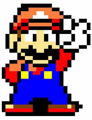 Mario Peace sign sprite