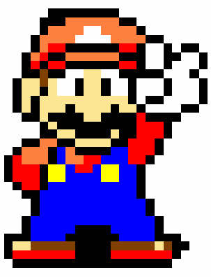 Mario Peace sign sprite - The Super Mario fã Club fotografia