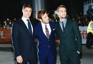 Max Irons,Sam Claflin and Douglas Booth