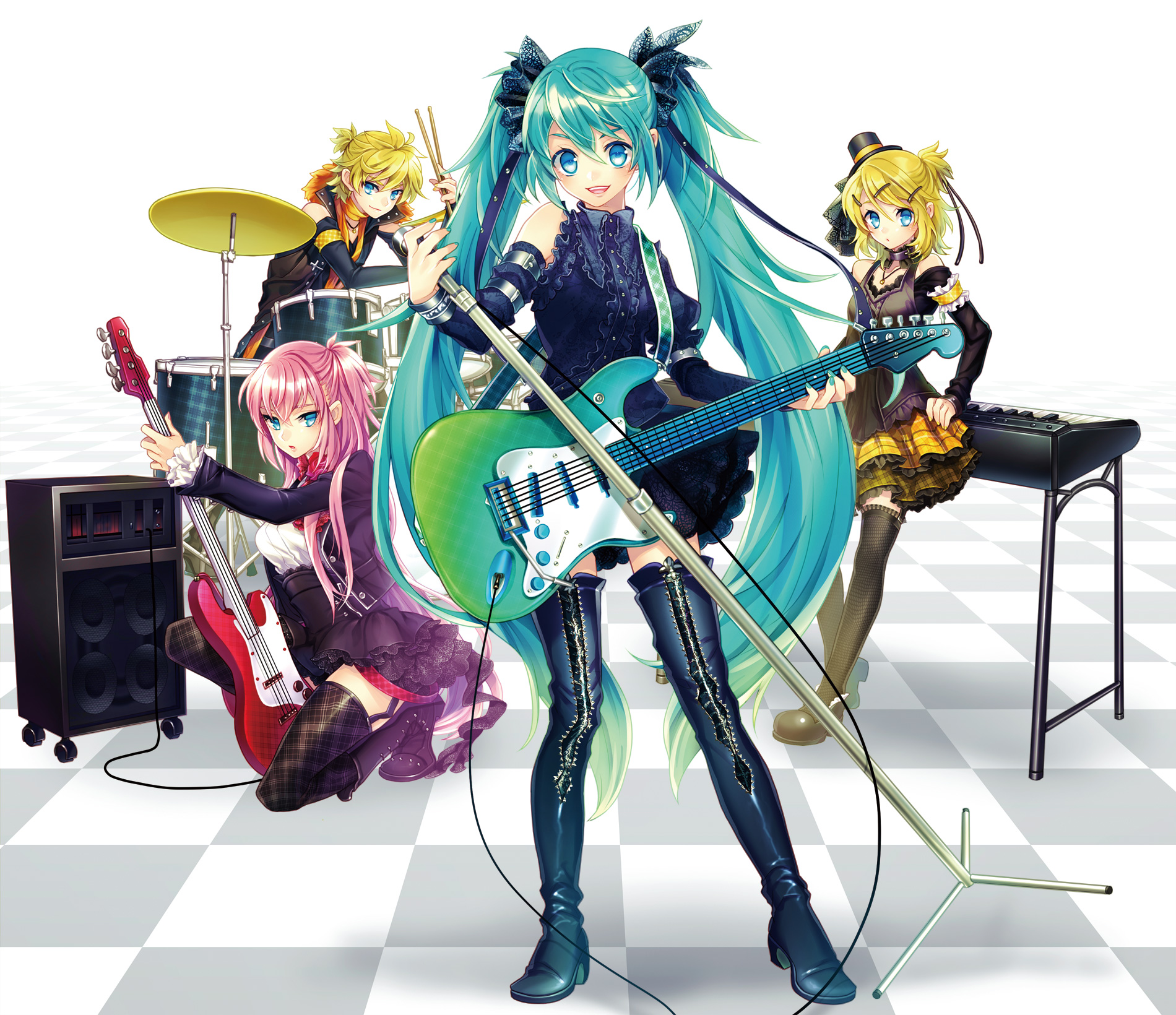 Msyugioh123 images miku band anime hd wallpaper and background photos