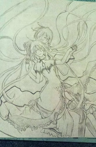hatsune miku wallpaper entitled Miku and Kaito!