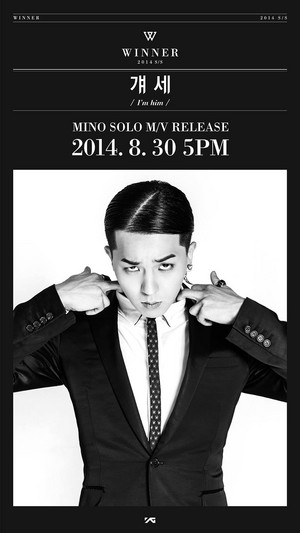 Mino teaser image for upcoming solo track 'I'm Him' MV release