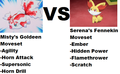 Misty's Goldeen VS Serena's Fennekin