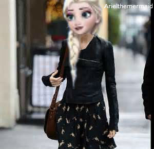 Modern Elsa on a Casual Walk