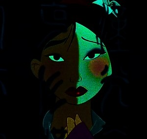Mulan: In the dark.