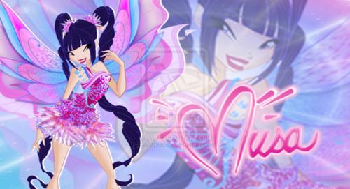 o clube das winx wallpaper titled Musa: 2D Mythix wallpaper