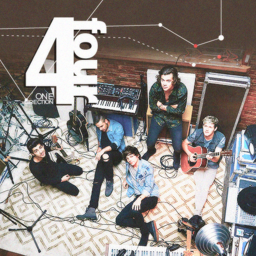 One Direction wallpaper containing a sign and a concert called One Direction - Four // Alternative Album Cover