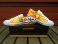 Naruto pure hand painted low-top converse shoes