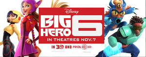 New Big Hero 6 image featuring Gogo Tomago, Honey Lemon, Fredzilla and Wasabi