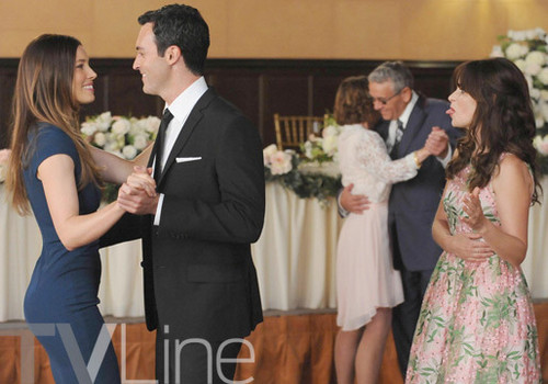 Teen テレビ shows 壁紙 with a bridesmaid titled New Girl 4.01 ''The Last Wedding''