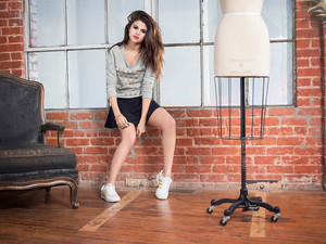 New pictures of Selena from her 2013 Adidas NEO Label Fall/ Winter Collection photoshoot