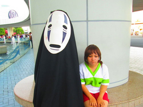 Spirited Away پیپر وال titled Noface and Chihiro