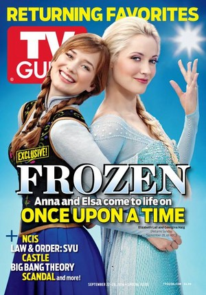 OUAT's Anna and Elsa of Frozen as TV Guide's Cover