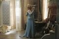 Once Upon a Time behind the scenes photos of Georgina Haig as Elsa