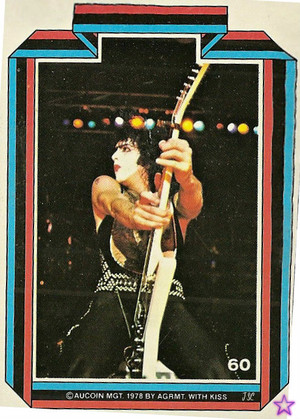 Paul Stanley ~KISS trading cards 1978