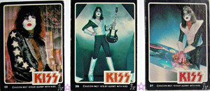 Paul Stanley and Ace Frehley ~KISS trading cards 1978