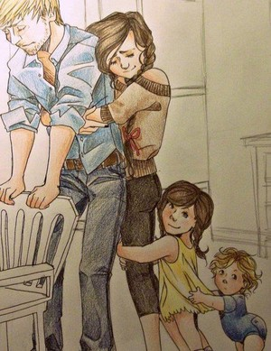Peeta, Katniss and their children