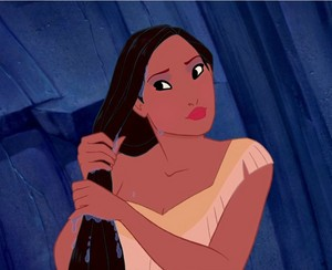 Pocahontas' splash look