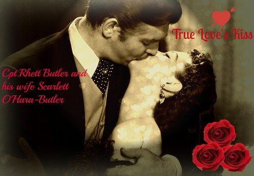 Gone with the Wind wallpaper entitled Rhett and Scarlett Butler