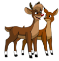 Rudolph and Zoey - rudolph-the-red-nosed-reindeer photo