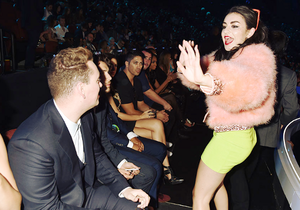 Sam Smith and Charli XCX at the VMAs