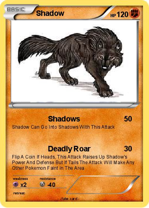 Shadow's Pokemon Card