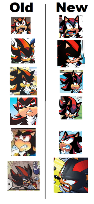 Shadow the Hedgehog Archie Comic comparaison