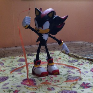 Shadow the Hedgehog doing the Ribbon Dance