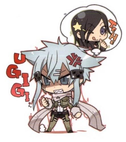 Sword Art Online II Wallpaper Containing Anime Titled Sinon Hates Kirito