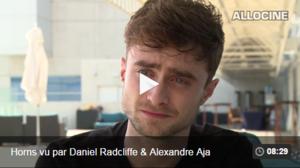 Snapshot from Daniel Radcliffe Interview With AlloCiné (Fb.com/DanielJacobRadcliffeFanClub)