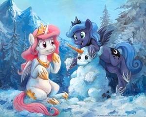 Snow pony!