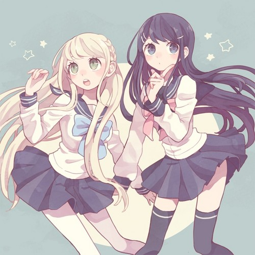 Dangan Ronpa wolpeyper with anime entitled Sonia and Sayaka