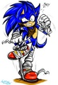 "Sonic's gonna trip on his sports tape"" - sonic-the-hedgehog fan art"