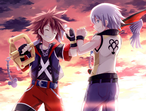 kingdom hearts fondo de pantalla entitled Sora and Riku
