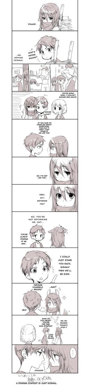 Staaaare (Mikasa and Eren)